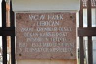 Památka na Václava Hájka z Libočan.