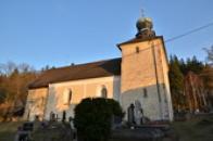 Pohled na kostel sv. Jana Křtitele.