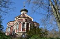 Pohled na kostel sv. Vladimíra.