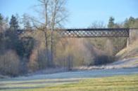 Železniční most Želnavské dráhy.
