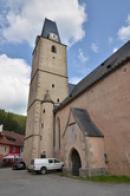 Věž kostela Panny Marie.