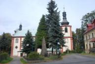 Kostel sv. Jana Křtitele z let 1715-1718.