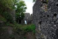 Detail hradní zdi.