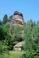Pískovcové skalní útvary nedaleko vísky Vranov.