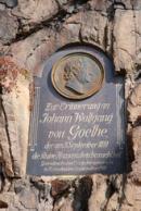 Pamětní deska na návštěvu J.W. Goetha.