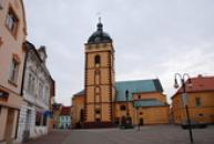 Kostel sv. Jiljí od severu.