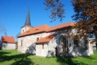 Kostel svaté Barbory v Mašťově.
