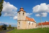 Pohled na kostel sv. Jana Evangelisty.