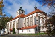 Kostel Povýšení sv. Kříže v Benešově nad Ploučnicí.