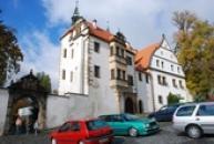 Dolní zámek vystavený v renesančním slohu.