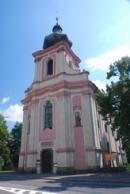 Věž kostela sv. Václava a Blažeje.