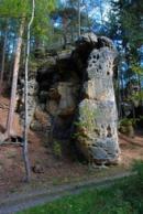Skalní masiv nedaleko Jetřichovic.