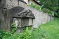 Staré německé náhrobky.