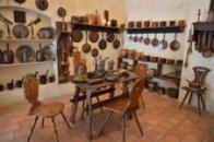 Pohled do hradní kuchyně.