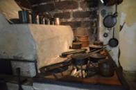 Záběr z hradní kuchyně.