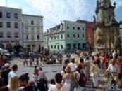 Léto na náměstí Míru.