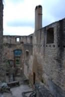 Severozápadní část hradu.