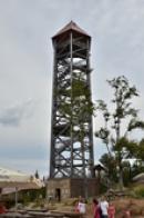 40 metrů vysoká rozhledna.