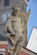 detail sochy na Horním náměstí.