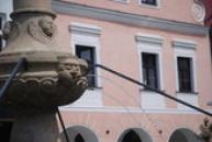 Detail kašny na Masarykově náměstí.