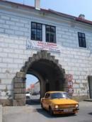 Pohled na Budějovickou bránu.