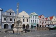 Mariánský sloup na Masarykově náměstí.