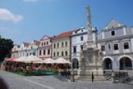Horní část náměstí s mariánským sloupem.