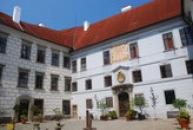 Malé nádvoří třeboňského zámku.