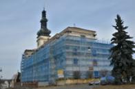 Kostela Nanebevzetí Panny Marie v rekonstrukci.