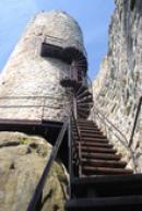 Výstup na hlavní věž hradu.