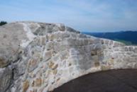 Zeď na vrcholu hlavní věže.