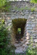 Okno hradního paláce.