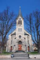 Novogotický kostel sv. Prokopa.