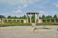 Pohled na památník v Lidicích.