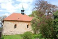 Pohled na kostel Všech svatých.