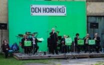 Hornická kapela Žehrovanka na Dni horníků.