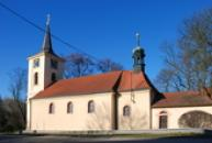 Pohled na kostel sv. Havla.