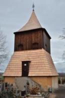 Dřevěná zvonice z roku 1712.