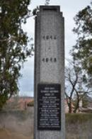 Detail památníku padlým.