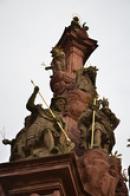 Detail sousoší Panny Marie.