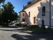 Severovýchodní strana kostela.