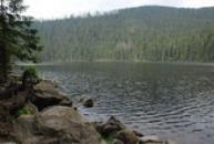 Pohled na druhé největší jezero na Šumavě.