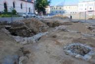 Archeologický průzkum na zdejším náměstí.