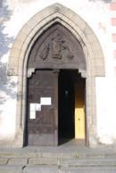Vstup do kostela sv. Markéty.