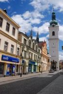 Pohled na Bílou věž v Klatovech.