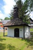 Pohled na kapličku sv. Barbory.