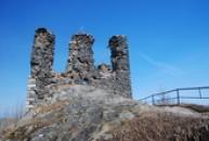 Vrchol paláce dávného hradu.
