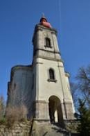 Pohled na kostel sv. Jiří.