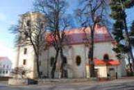 Zdejší kostel Archanděla Michaela.