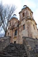 Pohled na kostel Navštívení Panny Marie.